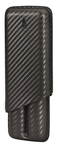 Lotus 2-Stick Cigar Case 70-Ring Gauge - Carbon Fiber (Fiber Carbon Cigar Lighter)