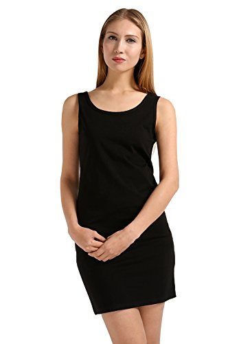Solid Stretch Cotton (GUBUYI Women's Basic Solid Tank Tops Stretch Cotton Casual Camisoles(black3/XL))