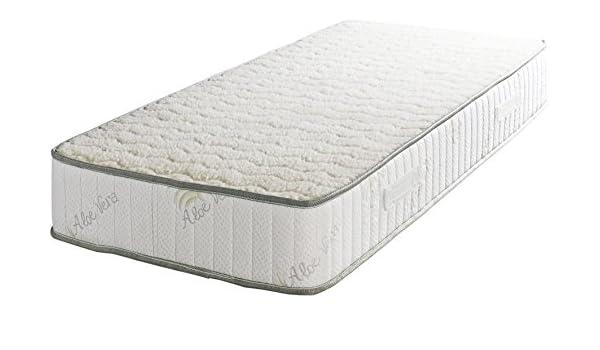King of Dreams: colchón Super Deluxe de espuma de látex indeformable, lana de oveja merina 100%, tela al áloe vera, altura de 23 cm, firme, ortopédico, ...