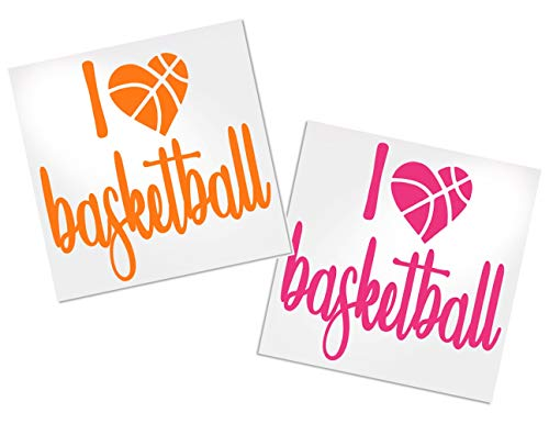 Basketball Lover Decal for Cup, Tumbler, Car Window or Laptop - Your Choice of Color & Style | Decals by ADavis ()