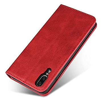 Amazon.com: Weejb- Huawei P20 Wallet Case, Embedded Magnetic Closure Cowhide Texture PU Leather Wallet Case with Holder/Card Slots for Huawei P20 (Color ...