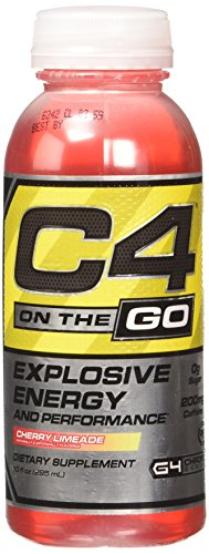 Cellucor C4 On the Go Pre Workout Energy Drink Supplement, Cherry Limeade, 12 Count