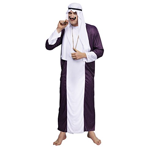 flatwhite Men's Dubai Gangster Arab Prince Costumes (L)]()