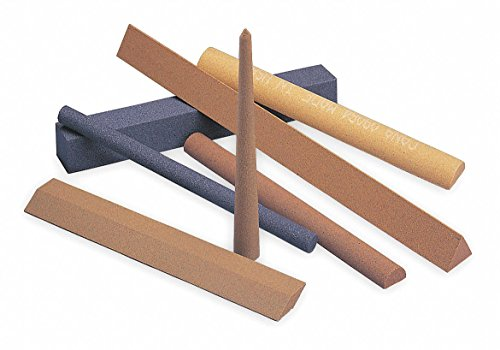 (Triangular Abrasive File Sharpening Stones, 4 X 1/4, Fine, India)