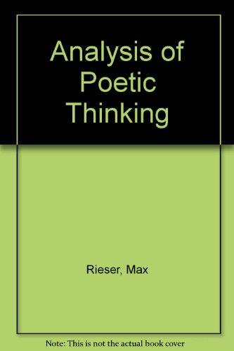 Analysis of Poetic Thinking (Criticism monograph 1)