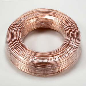 InstallerParts 18AWG 2-Conductor Polarized Copper Speaker Wire (Clear, 100 Feet) (Cable Speaker Center Biwire Channel)