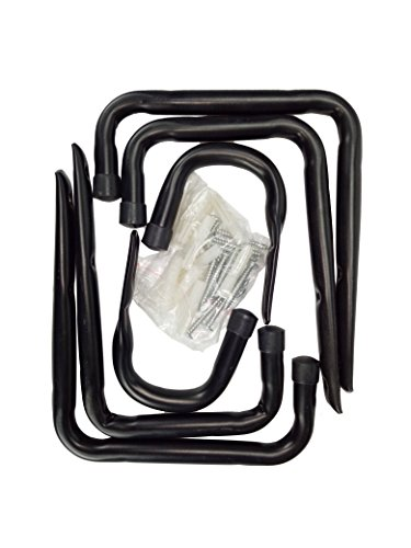 Heavy Duty Garage Hooks and Hangers Organizer - Wall Mount Garage Hanging Storage Utility Hooks for Ladders, Bike and Tools Black 6 Pack by FRTWEY (Image #5)