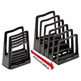 Adjustable File Rack, Five Sections, 8 X 10 1/2 X 11 1/2, Black