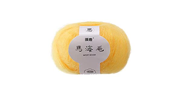 Mohair Crochet Colorido Bufanda Sombrero Chal Caliente DIY Hilo De ...