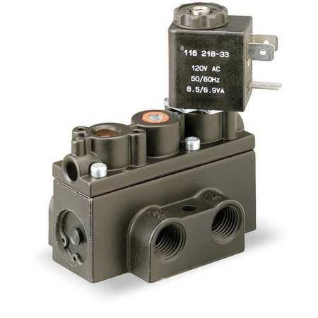 Solenoid Air Control Valve, 1/4 In, 24VDC by ARO