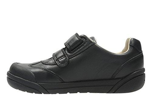 Clarks Lilfolk Zoo Inf Boys School Shoes 12 G Black Leather