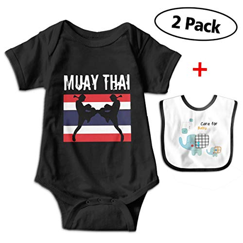 Muay Thai Thailand Flag Kickboxing Boxing Newborn Baby Funny Cotton Bodysuits Rompers Outfits