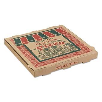 arv9104314 - Corrugado Pizza cajas, 10 W x 10d x 1 3/4H, Kraft: Amazon.es: Amazon.es