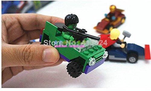 4pcs Marvel SUPER HEROES Captain America HULK THOR IRON MAN Minifigures Figures Model Building Blocks Bricks Learning Educational Toys Gift for Children Kids