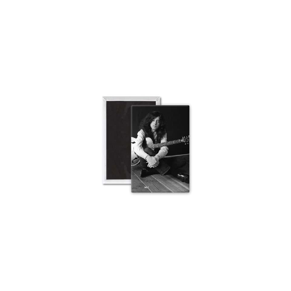 Jimmy Page   Led Zeppelin   3x2 inch Fridge Magnet   large magnetic