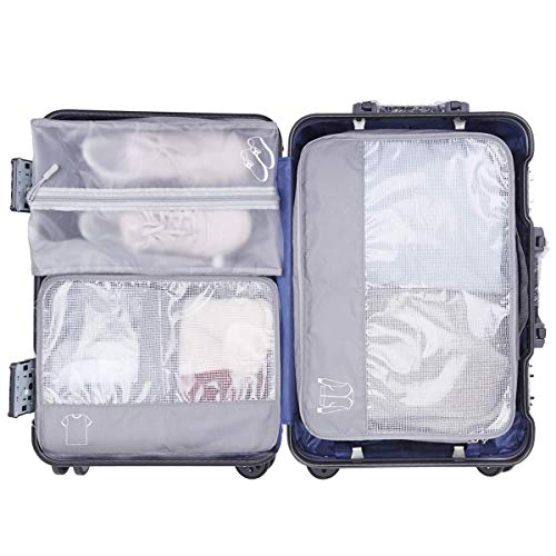 Storage Packing Cubes, Keenstone 6-Sets Best Value Luggage Organizers, Storage Bags Suitcase - Compressible Storage Cubes for Holiday Travel, Laundry & Home Storage