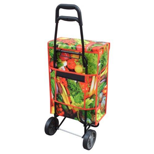 """HAB & GUT (JA006) Einkaufshilfe mit Rollen, Marke: JAMES, """"Veggie"""" Trolley, Trolly, Handwagen, Shopingtrolley, Einkaufsroller"""