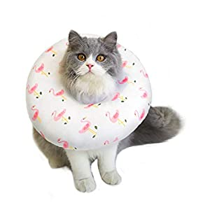 Petseek Cat Cone Adjustable Recovery Collar Soft After Surgery for Cats Small Dogs Wound Healing Protective E Collar Elizabethan Collars 45