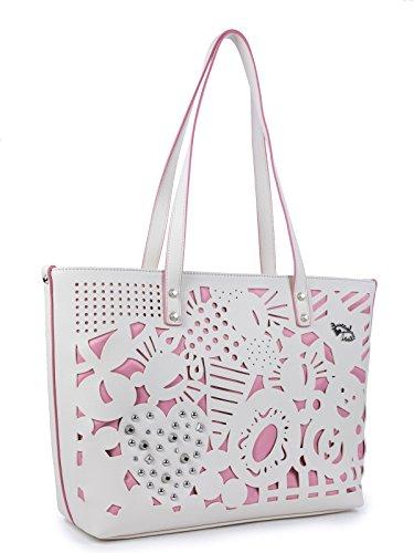 Summer Shopping Braccialini Borsa Shopping Bianco Shopping Borsa Braccialini Summer Bianco Borsa Braccialini AwTqgw6ax