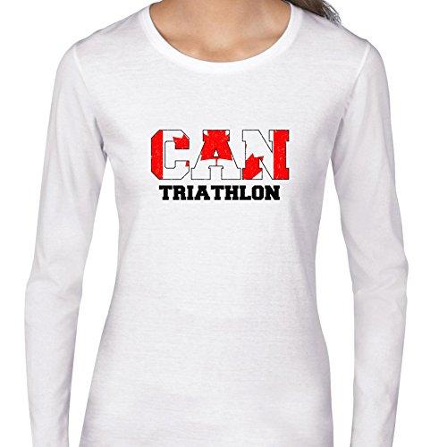 Canada Triathlon - Olympic Games - Rio - Flag Women's Long Sleeve - Triathlon Canada Apparel