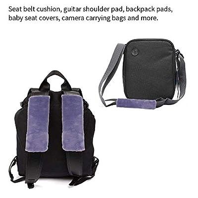 SENHAI 4 Pieces Soft Seat Belt Pads, Faux Sheepskin Shoulder Strap Covers for Kids Adults - 2 Black and 2 Gray: Automotive