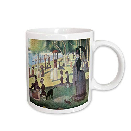 3dRose mug_127363_1 A Sunday Afternoon on The Island of La Grande Jatte by Georges-Pierre Seurat Ceramic Mug, 11-Ounce (George Seurat A Sunday On La Grande Jatte)