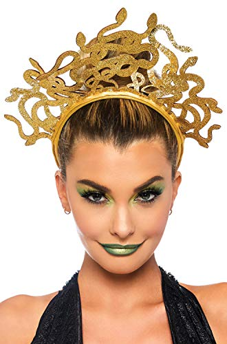 (Leg Avenue Women's Medusa Costume Headband, Gold One)