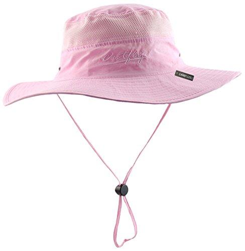 Camo Coll Outdoor Sun Cap Camouflage Bucket Mesh Boonie Hat (Pink ... 6b79d4b1481