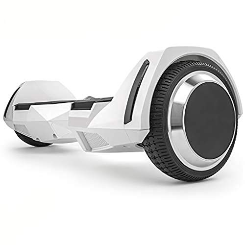 Spadger Hoverboard 350w Scooter 6.5″ Off Road Wheels Self Balancing Hoverboard R5 with BLE Speaker and LED Lights APP Enabled Electric Scooter for Adult Kids – UL 2272 Certified