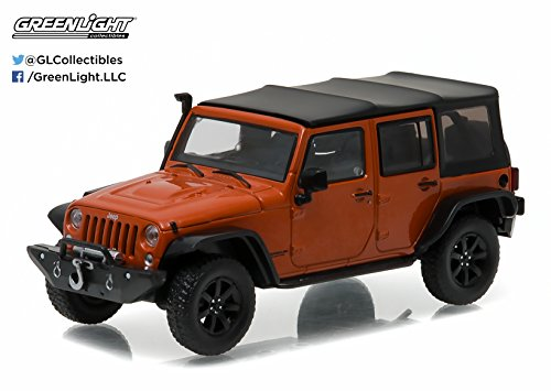 GreenLight 2014 Jeep Wrangler Unlimited Custom Copperhead Pearl with Snorkel (1:43 Scale) (43 Scale Replica Model)