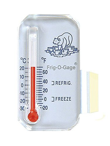 (Sun Company Frig-o-gage - Cooler-Refrigerator-Freezer Thermometer | Refrigerate and Freeze Zones | For RVs and Motor Homes )