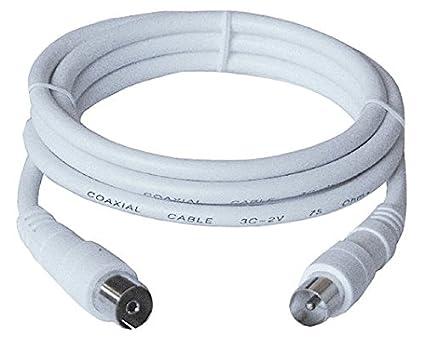 Unbekannt No de Nombre Cable Coaxial de Antena 75 Ohm, Conector coaxial Hembra, 2