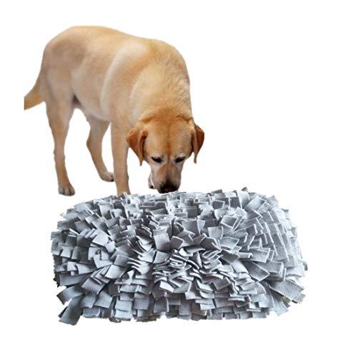 RZJ-LL Dawn Dog Feeding Mat Snuffle Training Foraging Sniffing Pad Washable Blanket Interactive Toys for Boredom Portable Travel Supplies 5035cm,Gray (Mats Dog Personalised Feeding)