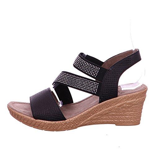 Noir Sandalssandals Avec forme Plate De Chaussures Un Noir Jana 6vPxwgcqUO
