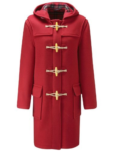 Original Montgomery Womens Wooden Toggles Duffle Coat (18, Red) -