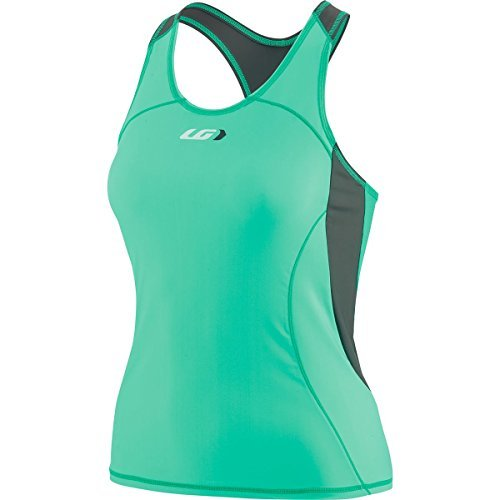 Louis Garneau Womens Top (Louis Garneau Comp Women's Tank Top Grey/Green, M)