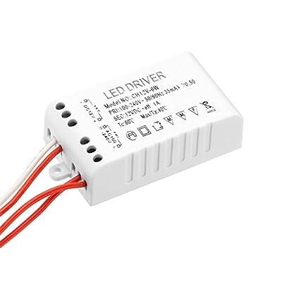 Rayhoo Indoor Lighting Low Voltage Transformers LED Driver Adapter LED Light Bulb Transformer DC 12V Regulated Power Supply AC 110-240V for LED Light Bulbs