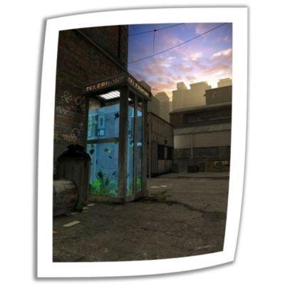 Art Wall Phone Booth 36×24インチ アンラップキャンバスアート シンシアデッカー作 2インチアクセントボーダー B00BLHB1Y0