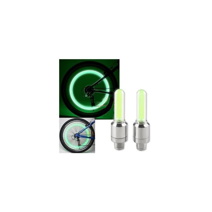 SODIAL(R) 2PCS BLUE LED Flash Tyre Wheel Valve Cap Light for Car Bike bicycle Motorbicycle Wheel Light Tire Light