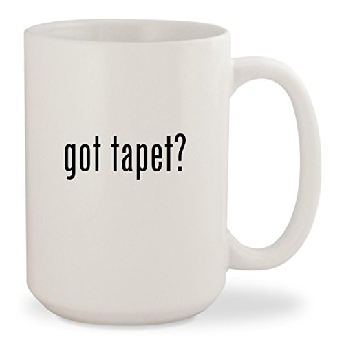 got tapet? - White 15oz Ceramic Coffee Mug Cup (Rosa, Gold Und Schwarz)