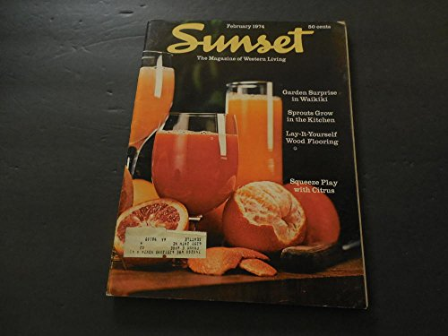 Used, Sunset Mag Of Western Living Feb 1974 Waikiki; Sprouts; for sale  Delivered anywhere in USA