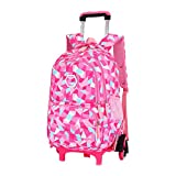 Kid Rolling Backpack for Girls Boys for School Journey with Wheels Luggage Zhhlinyuan