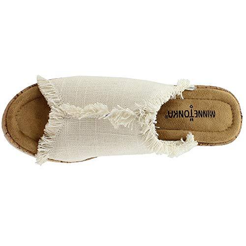 da York con Minnetonka donna zeppa Sandali sporco bianco Lino HFIw1z