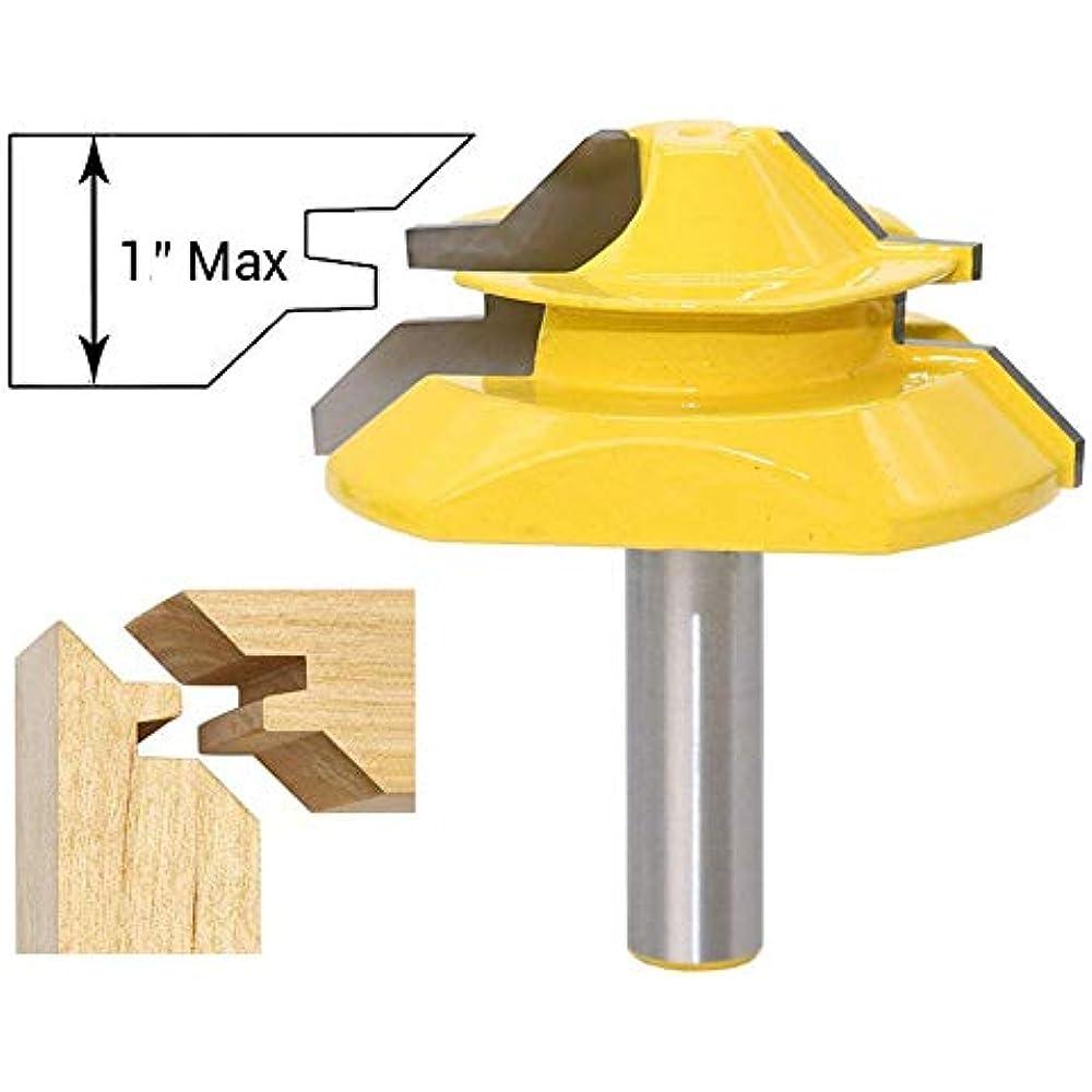 45Degree 1//2Inch Stock Router Bit Lock Miter Woodwork Cutter Tool 8mm Shank Good