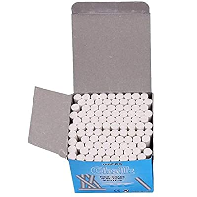 Watonic 100PC Sidewalk Chalk For Kids Toddlers Outdoor Side Walk Outside (White, 100pc): Office Products