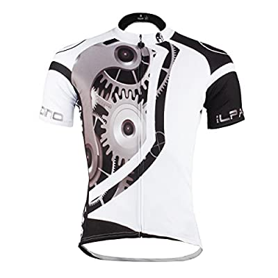 Paladin Men's Mechanical Pattern Bike Shirt Short Sleeve Cycling Jersey