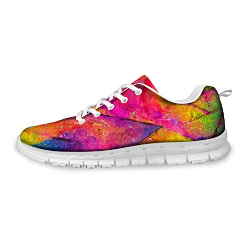 7 35 45 for pattern Color CHAQLIN Running Size Women Bright Shoes Men 1z8aP