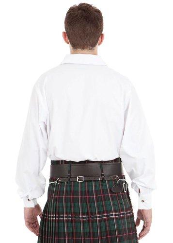 Kilt Society Mens White Scottish Jacobite Ghillie Shirt XX-Large by Kilt Society (Image #3)