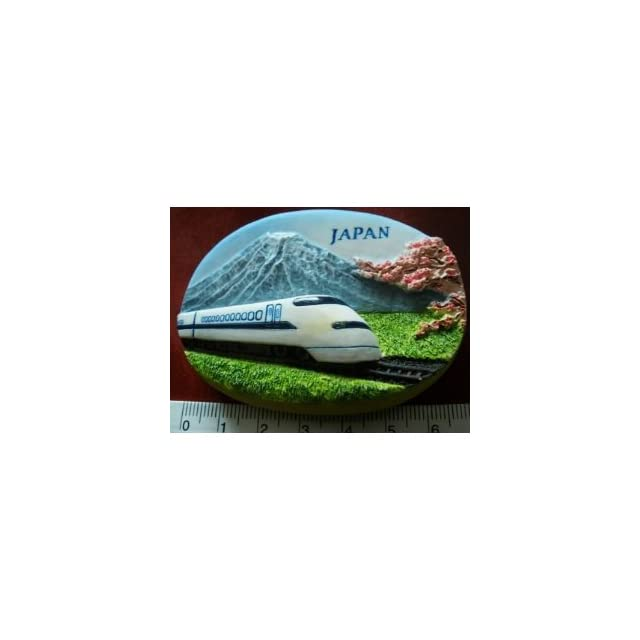 Japanese Bullet Train Mount Fuji Japan High Quality Resin 3D fridge Refrigerator Thai Magnet Hand Made Craft