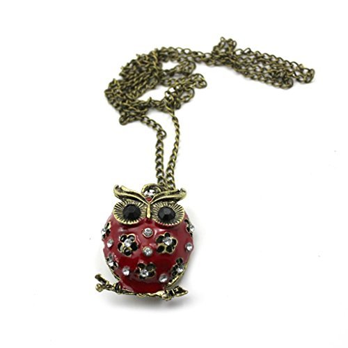 HuntGold 1X Cute Cartoon Owl Necklace Alloy Hollow, used for sale  Delivered anywhere in Canada